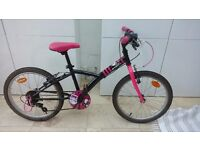 B'TWIN MISTIGIRL 320 20-INCH BIKE - BLACK/PINK