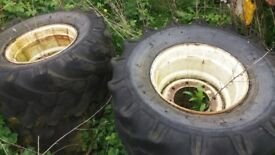 "WHEELS and TYRES for a ""MANITOU"" Agricultural/Construction Vehicle"