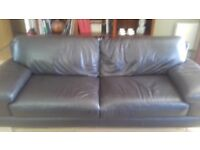 Leather Sofa...4 seater chocolate brown excellent condition.