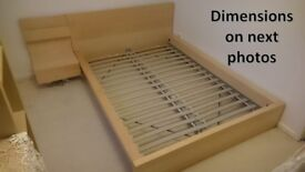 Ikea MALM bed frame - Double Size. VGC!