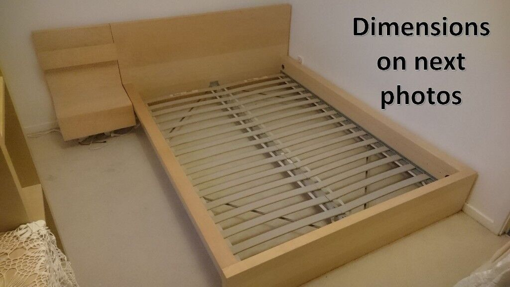 Ikea MALM bed frame   Double Size. VGC! | in Arnold