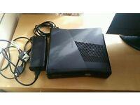 Xbox 360 slim console black 250 gb vgc