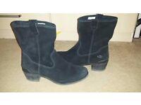 Womens Ugg Briar Boot Black Suede UK4.5