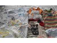 Bundle of baby boy clothes 0-3months