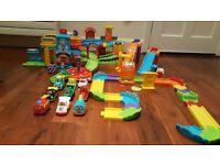 Toot toot bundle - garage, police station, racing ramp way, extra track & cars