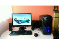 """Entry level Gaming Pc (Intel i5)with 22"""" Monitor, gaming keyboard, mouse and speakers"""