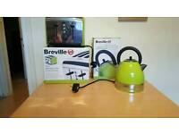 Lime kettle, double toaster and scales