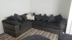 Large cls corner sofa with cuddle chair and footstool