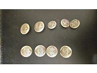 Regiment buttons