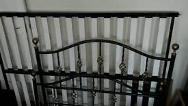 Sturdy metal bed frame