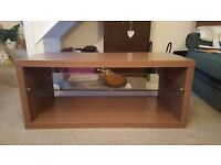 Light Brown Coffee Table with glass shelf, originally bought from Next Home. Need gone ASAP!!