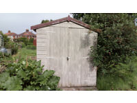 Shed, tongue and groove construction with double doors, 6' x 3' and in good condition.