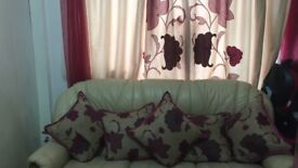 Curtains with matching pillow cases