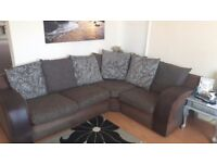 Corner suite sofa with single chair