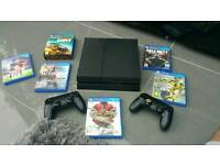 PS4 WITH 2 PADS AND 6 GAMES