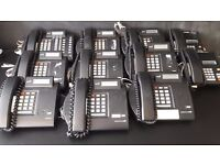 Lot of 11 BT Meridian Norstar Business Telephones Black