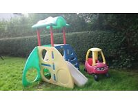 Little Tykes garden activity cube/slide and Little Tykes car