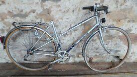 Vintage Retro French Motobecane Ladies Grey & Blue Town Bike Cycle Bicycle