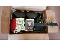 Guitar Hero 5, Band Hero and drums Xbox 360