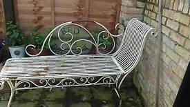Shabby chic garden seat /bench