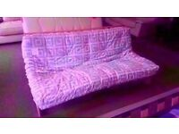 GREAT CONDITION! oregon futon sofa bed and mattress wooden frame