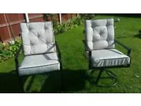 Metal garden seats
