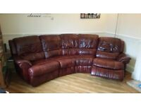 Electric leather reclining sofa