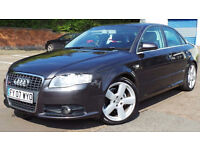 2007 07 AUDI A4 2.0 S LINE 140 BHP AUTO DIESEL 102K FSH(CHEAPER PART EX WELCOME)