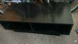 Tv stand dvd Black TV or hifi stereo unit. Wood effect. Not glass