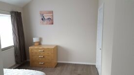 Double bedroom in a newly refurbished house