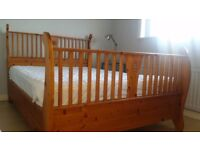 Double pine bedframe - seldom used in spare room