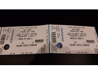 2 x GOLDEN CIRCLE STANDING TICKET