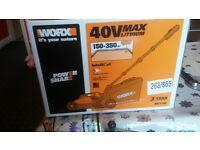 Worx 40V Li-Ion Cordless Lawnmower.