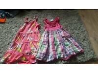 2x girls dresses 3/4 years
