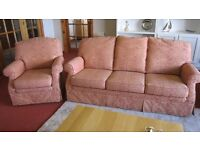 Parker Knoll 3 Seater Sofa and Matching Armchair
