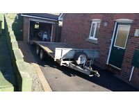 Ifor Williams beavertail trailer with ramps