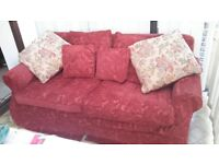 3 seat sofa excellent condition with removable washable covers collect lyme regis £75