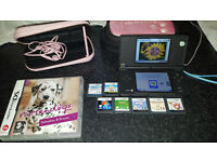 Nintendo DS, Games, charger, cases, assessories