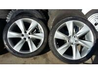 """21"""" SET OF 5 STUD ( 5x114.3) JAP ALLOYS NISSAN/TOYOTA/INFINITY WITH 4 GUD BRANDED 295 35 21 TYRES"""