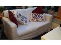 2 seater ikea fabric sofa