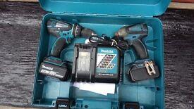 Makita 18v LXT Cordless Li-ion Combi Hammer Drill & Impact Driver