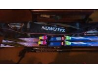 M3-S Skis And Kerma Vector Poles with Salomon bag / Skiing boat snowboard scooter skates surfboard