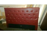 New King size bed padded headboard soft faux leather