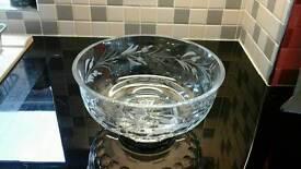 Cut glass bowl (royal brierley crystal)
