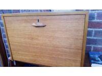 Vintage Ladderax desk with rods but no key 59cm wide, 35cm deep