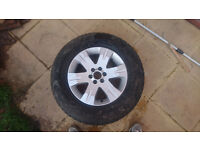 Landrover Freelander Alloy Wheel & Tyre - Goodyear Wrangler - all weather - 255/65R17