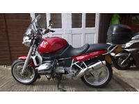 BMW Motorbike R850 R Tourer. S Reg. Red. MOT April 2017