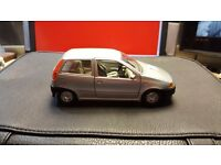Silver Die-Cast Fiat Punto Model Car in Great Condition