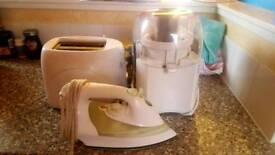 Jucier toaster iron Ketle fridges table carpets bed Mattress Heater