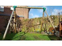 Little tykes wooden swings